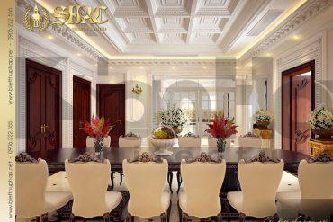 7 Thiết kế nội thất phòng bếp biệt thự lâu đài tại hà nam sh btld 0009