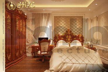 7 Thiết kế nội thất phòng ngủ 3 biệt thự lâu đài tại hải phòng sh btld 0014