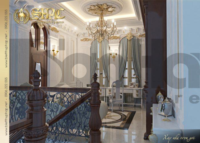 7 Thiết kế nội thất phòng sinh hoạt chung biệt thự lâu đài tại vĩnh phúc sh btld 0008