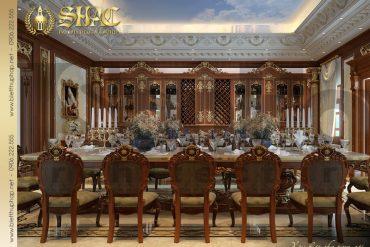 8 Mẫu nội thất phòng ăn đẹp biệt thự lâu đài tại thái bình sh btld 0015