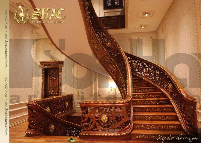 8 Thiết kế nội thất sảnh thang biệt thự lâu đài tại hà nội sh btld 0010