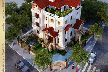 9 Thiết kế kiến trúc biệt thự pháp tại hà nội sh btp 0008