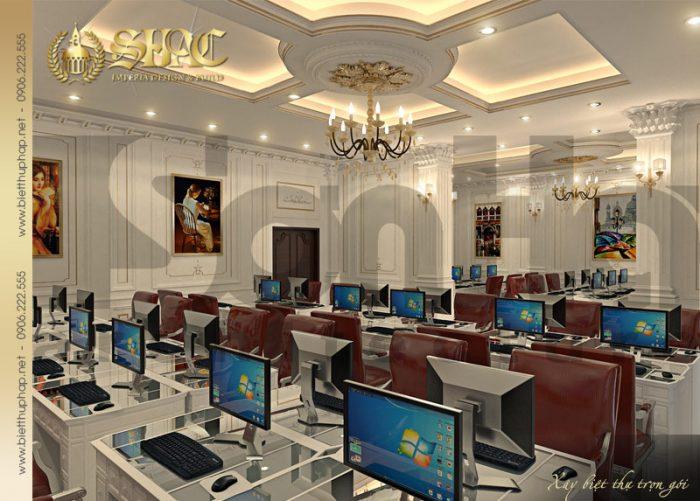 9 Thiết kế nội thất phòng làm việc biệt thự lâu đài tại hà nam sh btld 0009