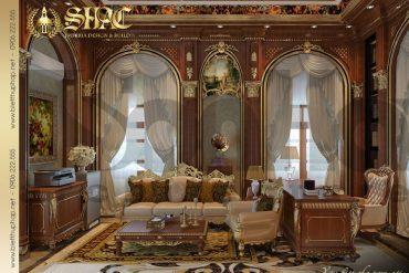 9 Thiết kế văn phòng cổ điển biệt thự lâu đài tại thái bình sh btld 0015