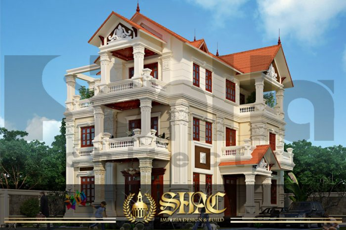 BIA thiết kế kiến trúc biệt thự lâu đài tại quảng ninh sh btp 0007