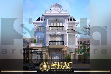 BIA thiết kế kiến trúc biệt thự tân cổ điển tại hà nội sh btcd 0012
