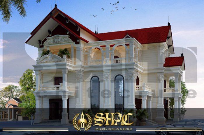 BIA Thiết kế kiến trúc biệt thự tân cổ điển tại hải phòng sh btcd 0016