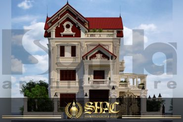 BIA Thiết kế kiến trúc biệt thự tân cổ điển tại lạng sơn sh btcd 0014