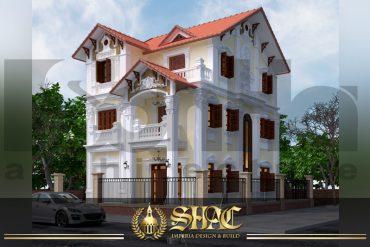BIA Thiết kế kiến trúc biệt thự tân cổ điển tại quảng ninh sh btcd 0006