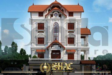 BIA Thiết kế kiến trúc biệt thự tân cổ điển tại quảng ninh sh btcd 0007