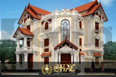BIA thiết kế kiến trúc biệt thự tân cổ điển tại quảng ninh sh btcd 0009