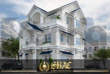 BIA thiết kế kiến trúc biệt thự tân cổ điển tại quảng ninh sh btcd 0013
