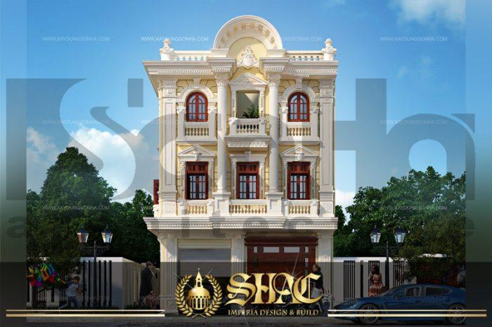 BIA thiết kế kiến trúc mặt tiền biệt thự pháp tại quảng ninh sh btp 0011