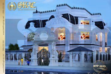 1 Mẫu kiến trúc biệt thự pháp đẹp tại quảng ninh sh btp 0023