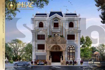 1 Thiết kế kiến trúc biệt thự pháp đẹp tại nghệ an sh btp 0026