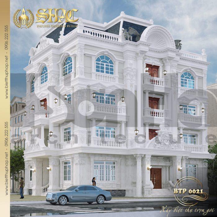 Mẫu thiết kế biệt thự cổ điển 4 tầng diện tích 18mx30m tại TP Hồ Chí Minh