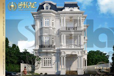 1 Thiết kế kiến trúc biệt thự tân cổ điển đẹp tại quảng ninh sh btcd 0017