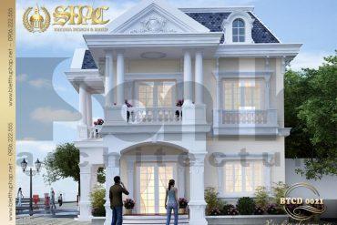 1 Thiết kế kiến trúc biệt thự tân cổ điển đẹp tại sài gòn sh btcd 0021