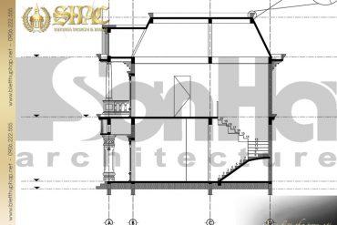 10 Mặt cắt 3 3 biệt thự tân cổ điển pháp tại sài gòn sh btcd 0021