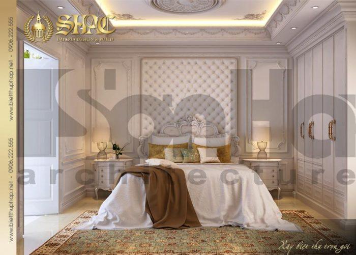 Mẫu thiết kế nội thất phòng ngủ này thể hiện sự tinh tế và gu thẩm mỹ của SHAC