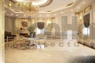 10 Thiết kế nội thất sảnh lễ tân cổ điển spa biệt thự pháp tại quảng ninh sh btp 0023