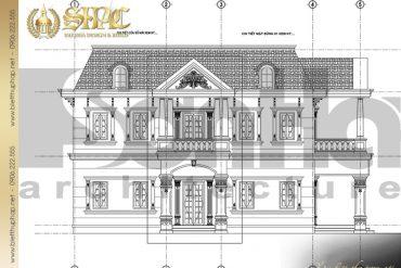 11 Mặt đứng 1 5 biệt thự tân cổ điển đẹp tại sài gòn sh btcd 0021