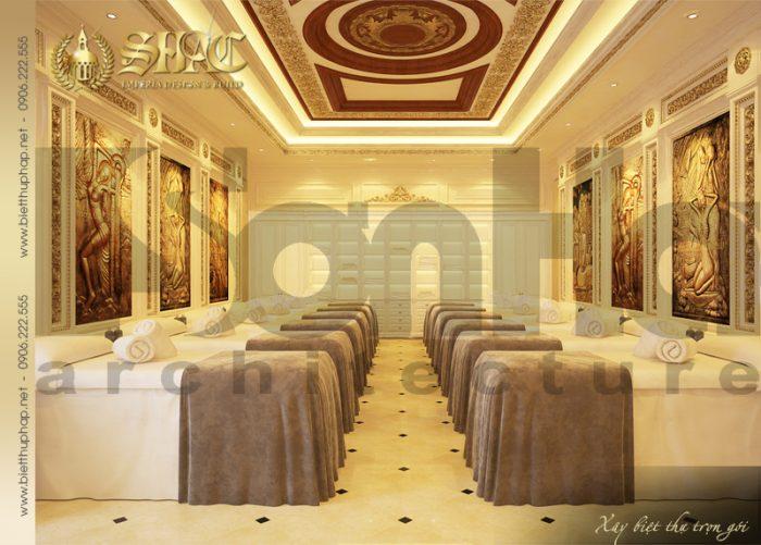 Thiết kế được đánh giá cao của mẫu nội thất phòng spa biệt thự cổ điển pháp đẹp