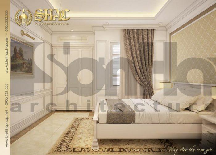 Phương án thiết kế nội thất phòng ngủ biệt thự kiến trúc pháp cổ điển hạ gục mọi ánh nhìn