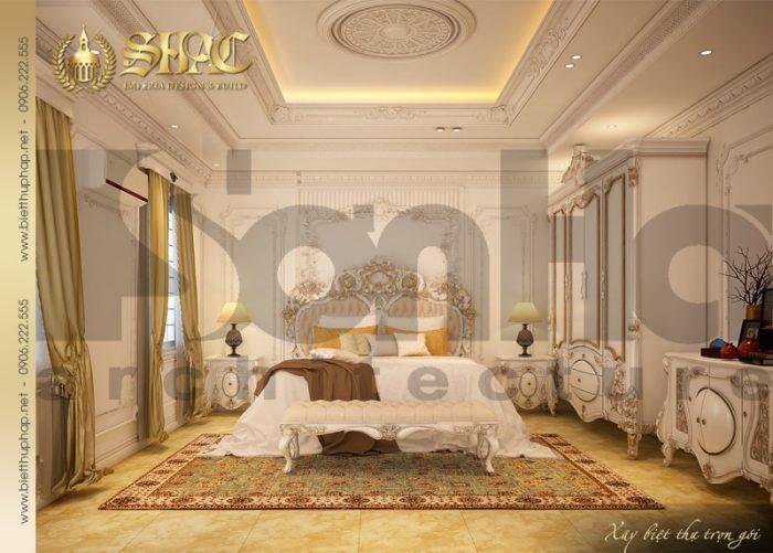 Mẫu nội thất phòng ngủ biệt thự cổ điển dễ dàng chinh phục mọi ánh nhìn CĐT