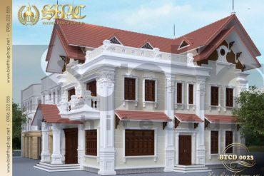 2 Mẫu kiến trúc biệt thự tân cổ điển đẹp tại hải phòng sh btcd 0023