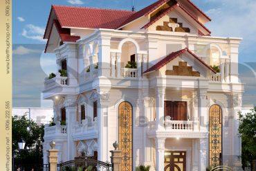 2 Mẫu kiến trúc biệt thự tân cổ điển đẹp tại thái bình sh btcd 0019