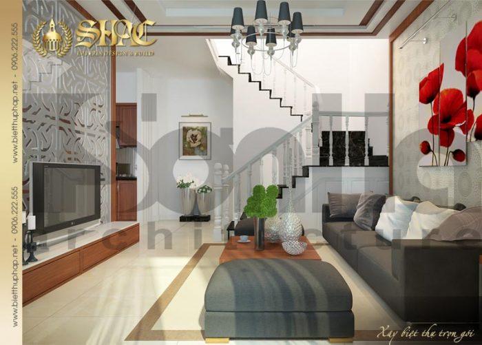 Mẫu thiết kế nội thất phòng khách biệt thự cổ điển pháp tại Sài Gòn được yêu thích