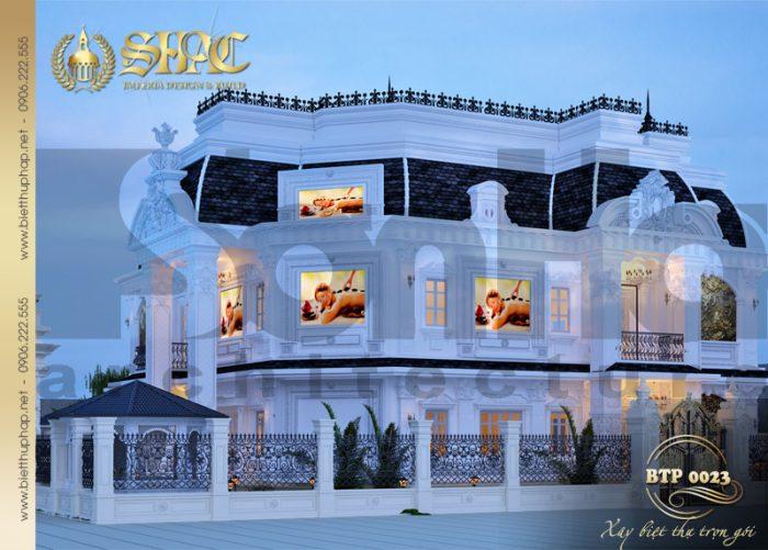 Phương án thiết kế kiến trúc biệt thự cổ điển kết hợp spa cao cấp tại Quảng Ninh