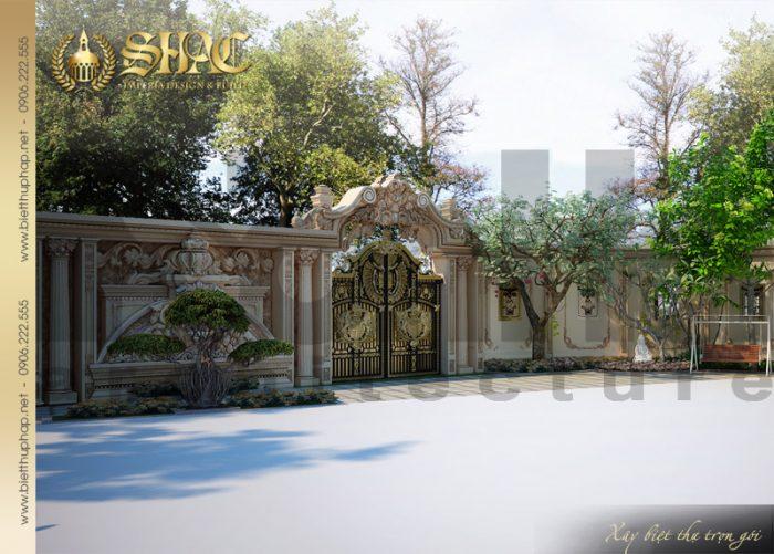 Thiết kế ấn tượng và đẹp mắt của ngôi biệt thự 4 tầng kiến trúc cổ điển pháp