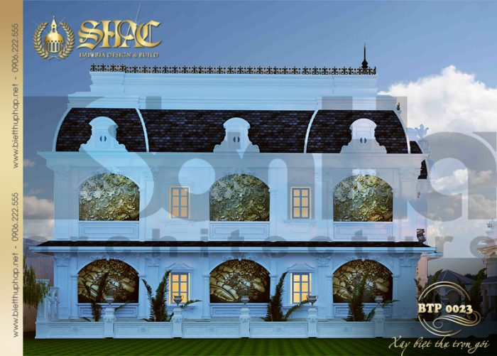 Thiết kế kiến trúc spa phong cách cổ điển kiểu pháp sang trọng từ mọi góc nhìn