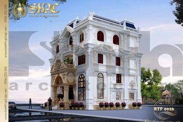 3 Thiết kế biệt thự pháp đẹp tại nghệ an sh btp 0026