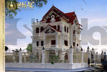 3 Thiết kế biệt thự pháp đẹp tại quảng ninh sh btp 0025