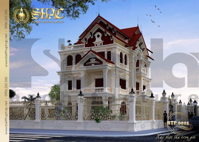 Phương án thiết kế được đánh giá cao của kiến trúc biệt thự pháp cổ tại Quảng Ninh