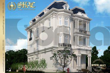 3 Thiết kế kiến trúc biệt thự tân cổ điển đẹp tại quảng ninh sh btcd 0017