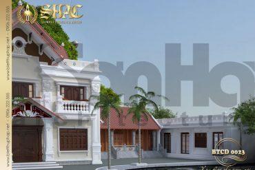 4 Mẫu kiến trúc biệt thự tân cổ điển đẹp tại hải phòng sh btcd 00223