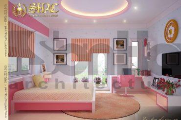 4 Nội thất phòng ngủ con gái biệt thự pháp cổ tại sài gòn sh btp 0027