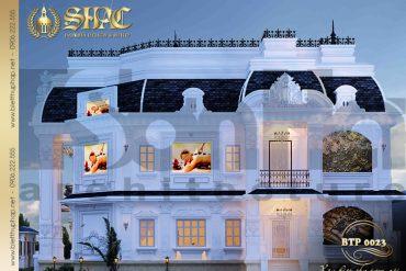 4 Thiết kế kiến trúc biệt thự pháp đẹp tại quảng ninh sh btp 0023