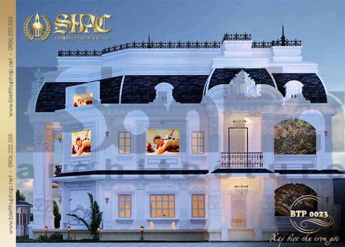 Mẫu thiết kế kiến trúc biệt thự pháp cổ điển đẹp tại Quảng Ninh được yêu thích