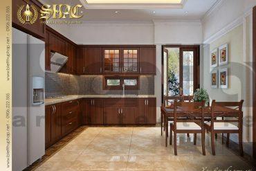 4 Thiết kế nội thất phòng ăn biệt thự tân cổ điển mini tại hải phòng sh btcd 0020