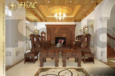 5 Cách bố trí phòng khách đẹp biệt thự tân cổ điển tại quảng ninh sh btcd 0017