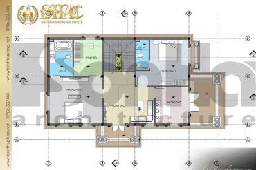 5 Mặt bằng công năng tầng 2 biệt thự tân cổ điển đẹp tại sài gòn sh btcd 0021