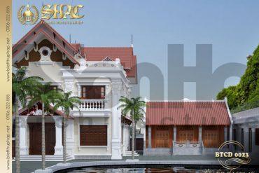 5 Thiết kế kiến trúc biệt thự tân cổ điển pháp tại hải phòng sh btcd 0023