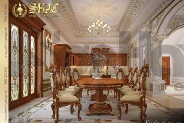 5 Thiết kế nội thất phòng ăn biệt thự tân cổ điển pháp tại ninh bình sh btcd 0022