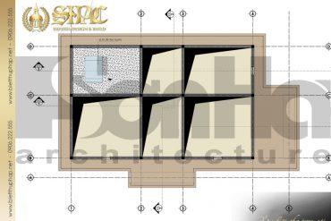 6 Mặt bằng tầng áp mái biệt thự tân cổ điển pháp tại sài gòn sh btcd 0021