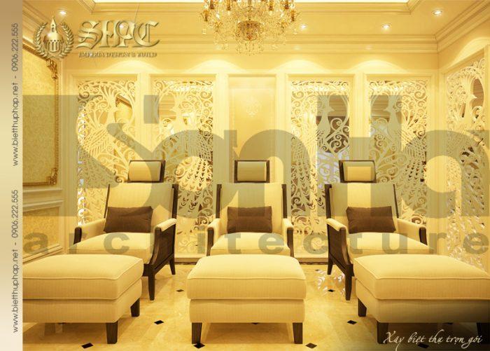 Thiết kế nội thất phòng spa ấn tương mãn nhãn với bố trí hợp lý các không gian